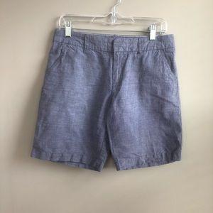 Tommy Hilfiger Linen Blend Chambray Shorts Size 4